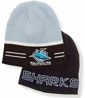 Official NRL Cronulla Sharks Switch Reversible Embroidered Beanie