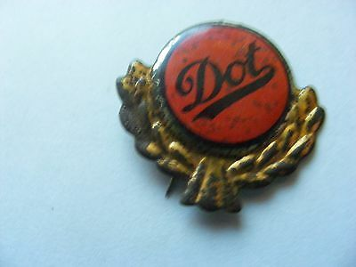 DOT  motorcycle very old lapel,hat pin badge(E)
