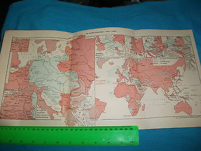 Map Central Europe......from 1924 edition Dutch school atlas.