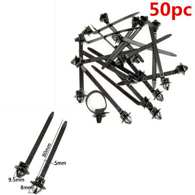 Quality 50PCS Universal Car Nylon Tie Wrap Cable Fixed Fasteners Clips Zip Strap