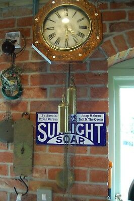 Old Antique  Black Forest Wall Clock Full Working Order Brass Weights