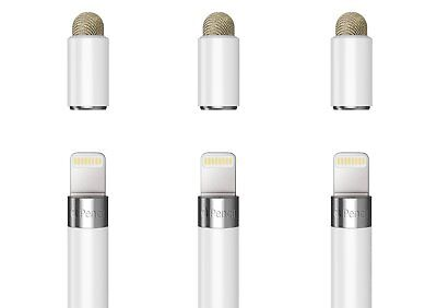 3Pcs MoKo 2in1 Apple Pencil Cap Replacement Thin Protective Cover Tip As Stylus