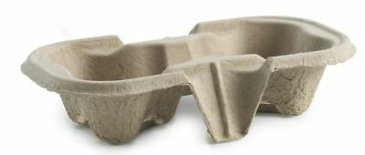 360x Two Cup Fibre Carry Tray - coffee cup holder