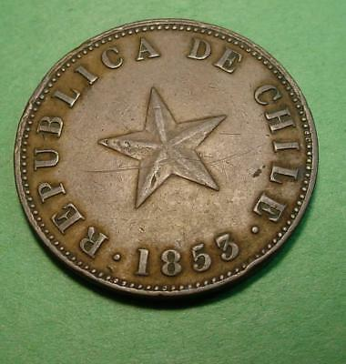 1853 Chile Centavo - Lot# 101 - Nice Details - Scratch