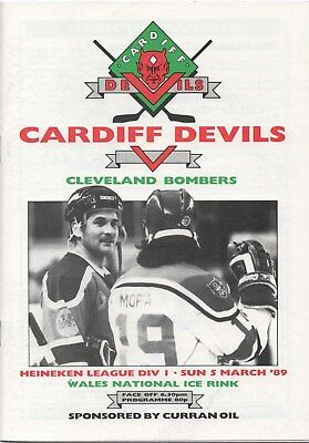 Mar 89 CARDIFF DEVILS v CLEVELAND BOMBERS League