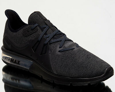 50fd25b84a0 Nike Air Max Sequent 3 Mens Running Shoes New Men Black Anthracite 921694- 010