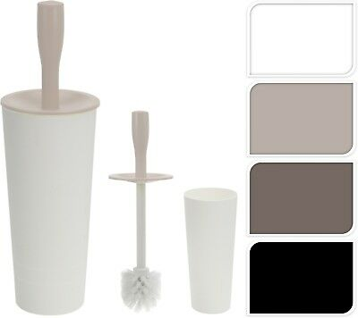 Stylish Plastic Bathroom Toilet Brush Holder With Toilet Brush Set FreeStanding