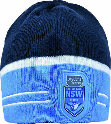 Official NRL State of Origin NSW Blues 2018 Switch Reversible Embroidered Beanie