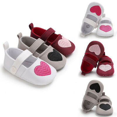 Girls Infant Toddler Baby Flower Cotton Soft Shoes Heart Printed Summer&Spring