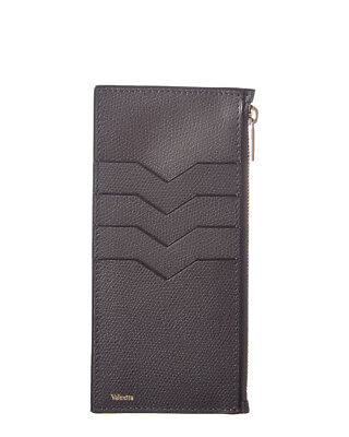 a7e1d64210c VALEXTRA WOMENS Leather Card Case, Grey - $299.99 | PicClick