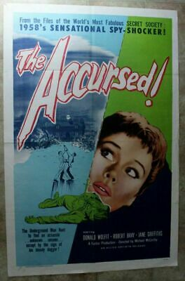 Accursed 1958 Donald Wolfit Robert Bray Jane Griffiths WWII Spy One Sheet Poster