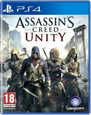 Assassin's Creed Unity Ps4 Videogioco Italiano Gioco Play Station 4 Pro Nuovo