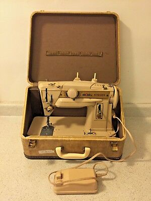 SINGER 411G HEAVY DUTY Sewing Machine - MADE IN GERMANY w/ CARRYING CASE