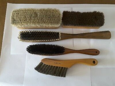 Vintage lot of 5 brushes. Concord. Oxford. Wood handles