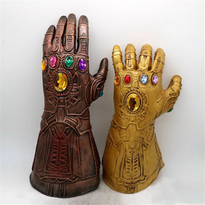 Avengers Infinity War Glove+Mask Thanos Cosplay Toy Gauntlet Figure Gift Props