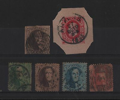 Belgium 1863-1865 King Leopold I Imperforated Set Perf. Cover Cut 85 Sc# 313-16