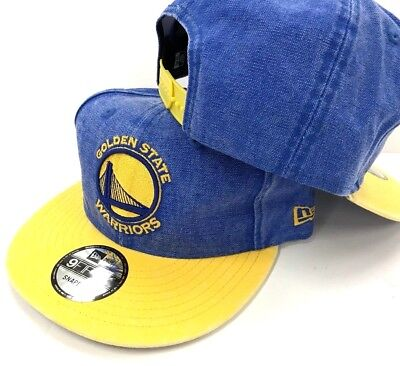 huge selection of 34e11 b8818 Golden State Warriors New Era NBA 9Fifty Rugged Jeans Snapback Mens Fit Cap  Hat