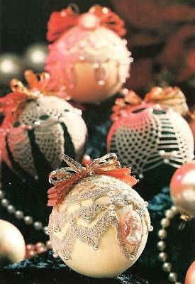 Y255 Crochet Pattern Only 4 Old Fashioned Christmas Ornament Cover Patterns