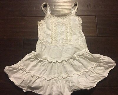 Girl's Vintage Slip Ruffled Lace Size 4 Toddler Sears 100% Cotton