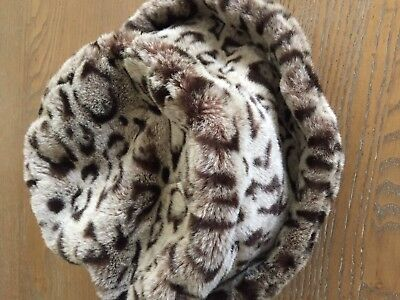 Gilly Forge London Leopard Faux Fur Winter Hat, Designer Millinery Couture Hat