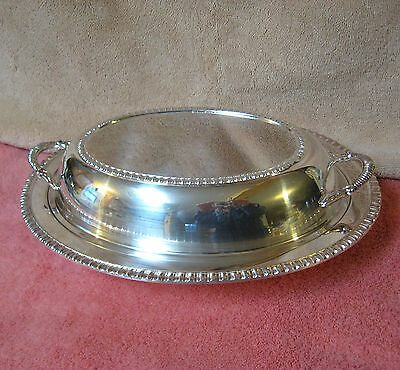 Crescent Silverplate Covered Casserole Vegetable Serving Dish Platter