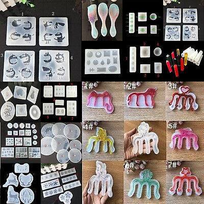 DIY Clear Silicone Mold Making Jewelry Pendant  Craft Tool Resin Casting Mould