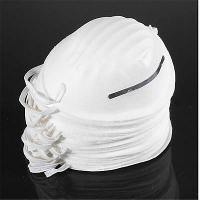 10X Dust Face Mask Filter Mouth Disposable Non-toxic White UK`