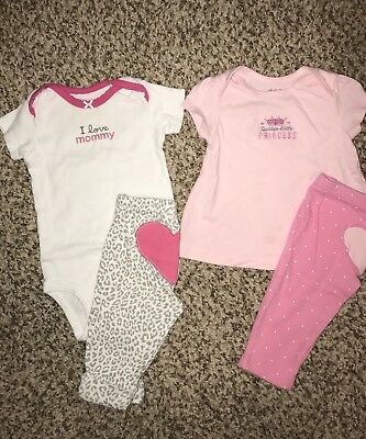 Baby Girl Carters/ Child Of Mine Outfits Size 6mo