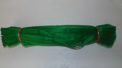 100  x 50cm Onion bag polynet plastic mesh GREEN Market stall, fishing berley.