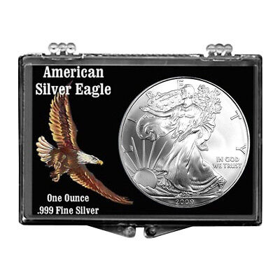 Father/'s Day Fishing Design 2016 $1 American Silver Eagle Snaplock Holder