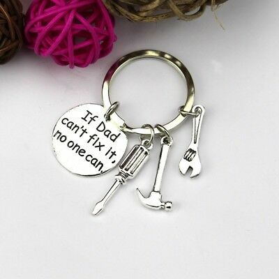 If Dad Wrench No One Can Hand Tools Hammer Can't Fix It Keychain Keyring Hot
