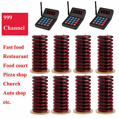 3X Restaurant Wireless Paging Queuing System+80xCall Coaster Pager for auto shop