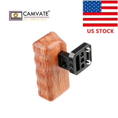 "Wood Wooden Handle Grip Right Right Side 1/4"" for GH Camera Cage Rig Stabilizer"