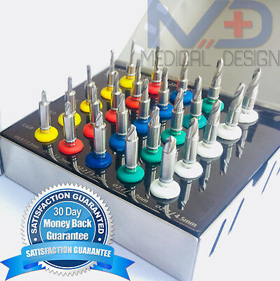Dental Conical Implant Drill Kit Surgical Drills with Stoppers Set 25 pcs