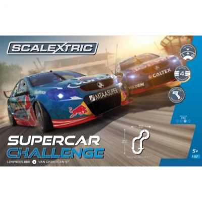 Scalextric Supercar Challenge Slot Car Set Lowndes/Van Gisb
