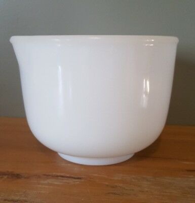 Vintage Sunbeam Milk Glass Bowl Small with Embossed Logo and 6