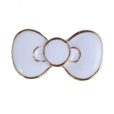 5X(Home Button Sticker - White Bowknot Bow Lovely Design for Samsung Galax R5C5)