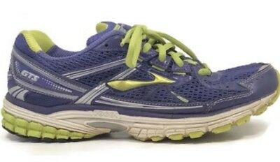 b48b948f534 Brooks Women s Adrenaline GTS 13 Running Shoes Purple Lime Size 9.5 Medium