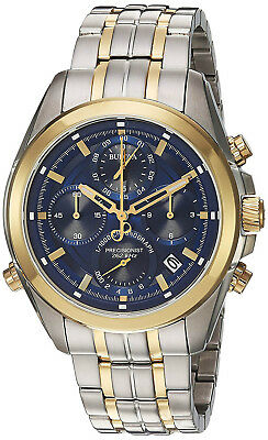Bulova 98B276 Blue Dial Two Tone Stainless Steel Chronograph Men's Watch