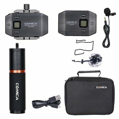 COMICA CVM-WS50B 6 CH Wireless Lavalier Microphone Mic w/ Grip For Smartphone AU