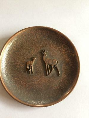 Vintage Retro South Africa African Deer Impala Animals Copper Wall Plaque