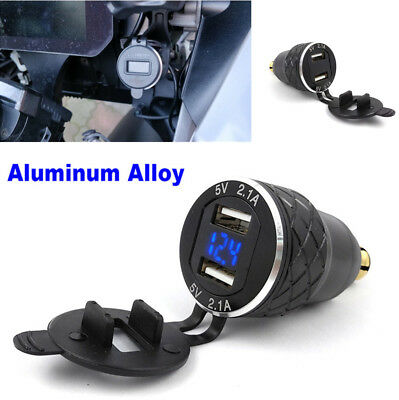 4.2A Dual USB Charger Cigarette Lighter Adapter Voltage Display EU Plug For BMW