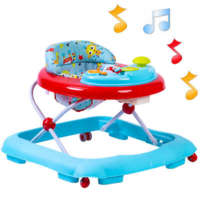 New Red Kite Robot Baby Go Round Jive Adjustable Musical Baby Walker