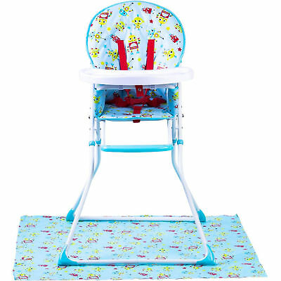 New Red Kite Robot Blue Feed Me Compact Highchair Baby Boys Feeding Chair