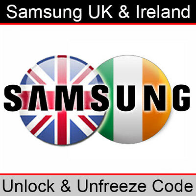 Samsung UK & Ireland Unlock & Unfreeze/PUK Code