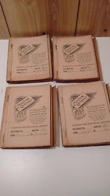 Antique Mader's General Store  4 Nova Scotia ledger sales books 1910 Jan to May