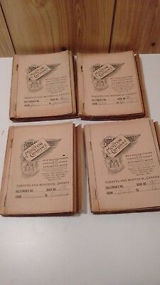Antique Mader's General Store Nova Scotia ledger sales books 1910 Jan to May