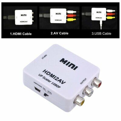 ADATTATORE CONVERTITORE VIDEO da HDMI a AV RCA INTERFACCIA HDMI2AV TV DVD