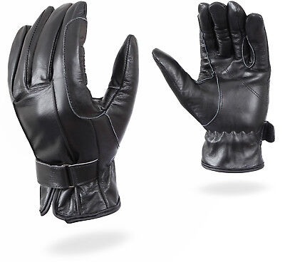 GearX Horse Riding Black Soft Leather Gloves Fashion Mittens