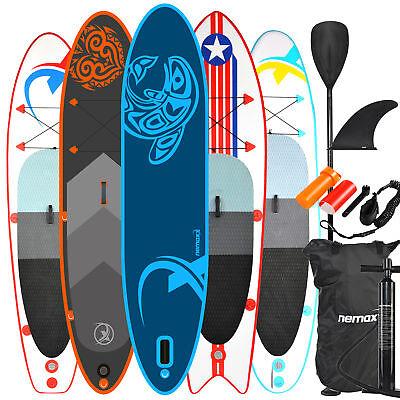 NEMAXX Stand up Paddle Board, SUP surfboard inflatable easy to carry + paddle